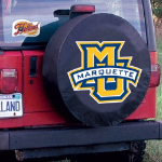 Marquette Tire Cover with Golden Eagles Logo on Black Vinyl