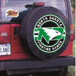 North Dakota Tire Cover with ND Logo on Black Vinyl