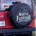 North Florida Tire Cover with Ospreys Logo on Black Vinyl