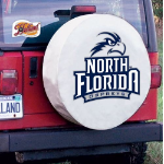 North Florida Tire Cover with Ospreys Logo on White Vinyl