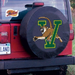 Vermont Tire Cover with Catamounts Logo on Black Vinyl