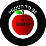 Proud to be a Teacher Tire Cover on Black Vinyl