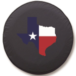 Texas Lone Star Tire Cover on Black Vinyl