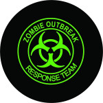 Zombie Outbreak Response Team Tire Cover - Green Logo