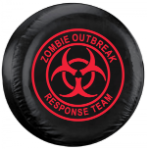 Zombie Outbreak Response Team Tire Cover - Red Logo