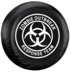 Zombie Outbreak Response Team Tire Cover - White Logo