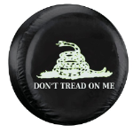Don't Tread On Me Tire Cover on Black Vinyl