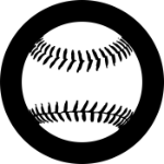Baseball Logo Tire Cover on Black Vinyl