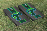 Tulane Cornhole Boards w/ Green Wave Logo - Bean Bag Toss