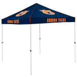 Auburn Tent w/ Tigers Logo - 9 x 9 Solid Color Canopy