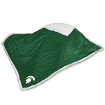 Michigan State Blanket w/ Spartans Logo - Sherpa Throw