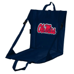 Ole Miss Stadium Seat w/ Golden Rebels Logo - Cushioned Back