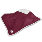 Mississippi State Blanket w/ Bulldogs Logo - Sherpa Throw