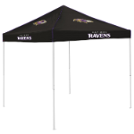 Baltimore Tent w/ Ravens Logo - 9 x 9 Solid Color Canopy