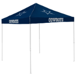 Dallas Tent w/ Cowboys Logo - 9 x 9 Solid Color Canopy