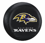 Baltimore Tire Cover with Ravens Logo on Black Vinyl -Large