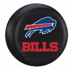 Buffalo Tire Cover with Bills Logo on Black Vinyl - Large
