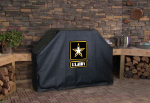 US Army Grill Cover with Military Logo on Black Vinyl