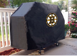 Boston Grill Cover with Bruins Logo on Black Vinyl