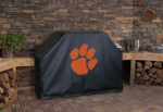 Clemson Grill Cover with Tigers Logo on Black Vinyl