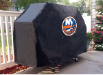 New York Grill Cover with Islanders Logo on Black Vinyl