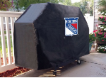 New York Grill Cover with Rangers Logo on Black Vinyl