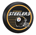 Pittsburgh Tire Cover with Steelers Helmet Logo - Large