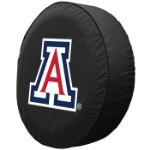 Arizona Tire Cover with Wildcats Logo on Black Vinyl
