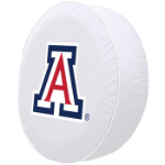 Arizona Tire Cover with Wildcats Logo on White Vinyl