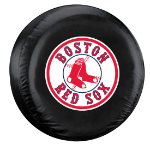 Boston Tire Cover with Red Sox Logo on Black Vinyl - Large
