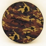 Camouflage Tire Cover on Black Vinyl
