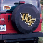 Central Florida Tire Cover with Golden Knights Logo on Black
