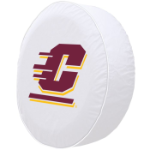Central Michigan Tire Cover with Chippewas Logo on White