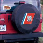 United States Coast Guard Tire Cover on Black Vinyl