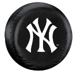 New York Tire Cover with Yankees Logo on Black - Large