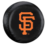 San Francisco Tire Cover with Giants Logo on Black - Standard