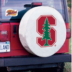 Stanford Tire Cover with Cardinals Logo on White Vinyl