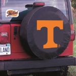 Tennessee Tire Cover with Volunteers Logo on Black Vinyl