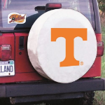 Tennessee Tire Cover with Volunteers Logo on White Vinyl