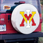 Virginia Military Institute Tire Cover on White Vinyl