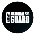 National Guard Tire Cover on Black Vinyl