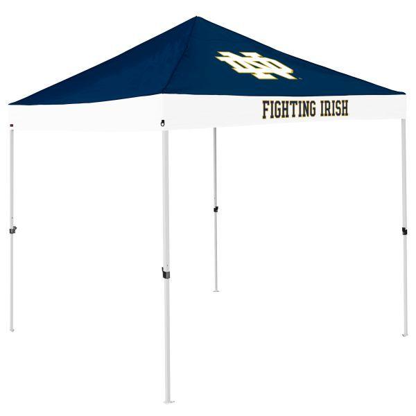 Notre Dame Tent W Fighting Irish Logo 9 X 9 Economy Canopy