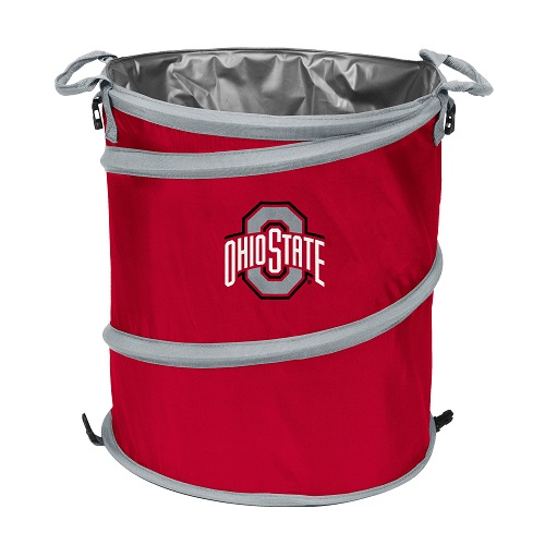 Ohio State Buckeyes Collapsible 3 In 1 Trash Can Cooler Hamper