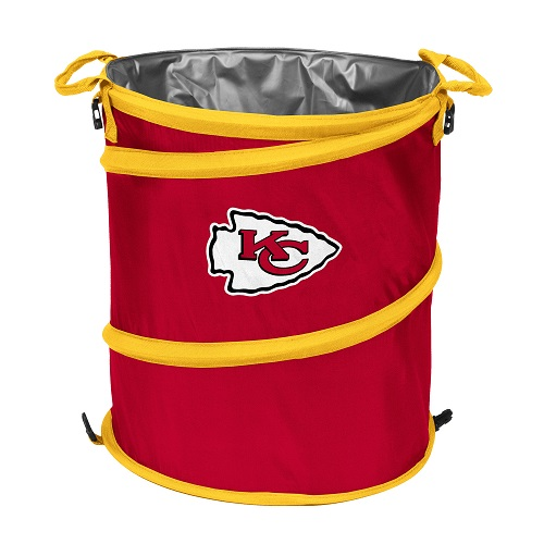 Kansas City Chiefs Collapsible 3 In 1 Trash Can Cooler Hamper