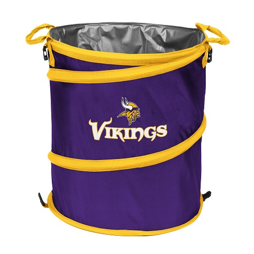 Minnesota Vikings Collapsible 3 In 1 Trash Can Cooler Hamper
