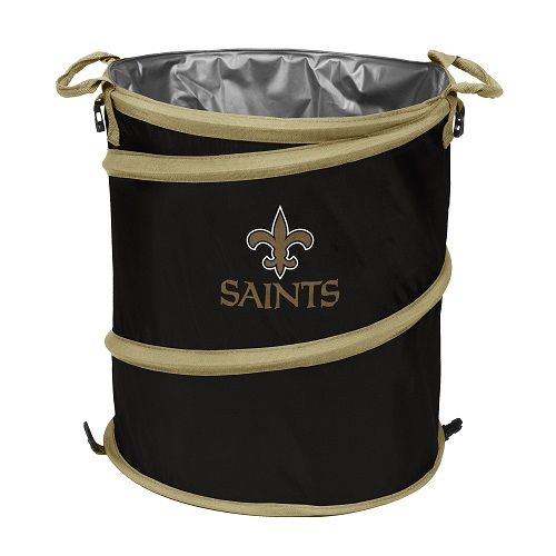 New Orleans Saints Collapsible 3 In 1 Trash Can Cooler Hamper