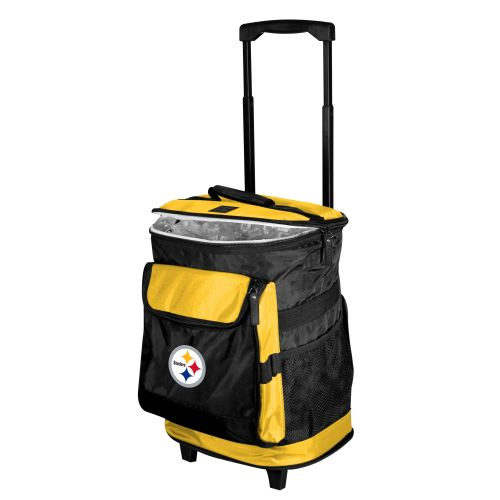 Pittsburgh Rolling Cooler W Steelers Logo 24 Cans Coolers