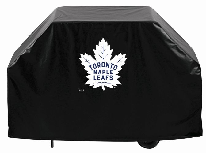 Toronto Grill Cover With Maple Leafs Logo On Black Vinyl