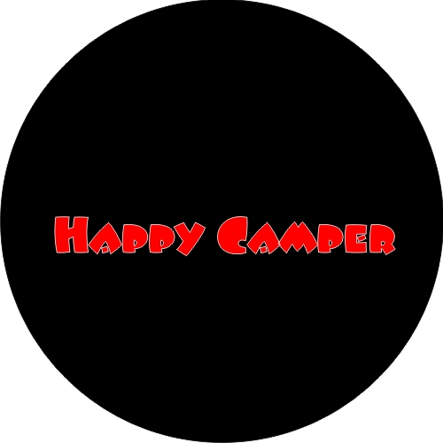 Happy Camper Spare Tire Cover on Black Vinyl : Happy20Camper from www.teamsportscovers.com size 500 x 500 jpeg 35kB