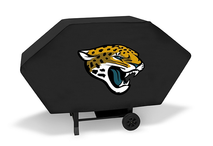 Jacksonville Grill Cover With Jaguars Logo On Black Vinyl